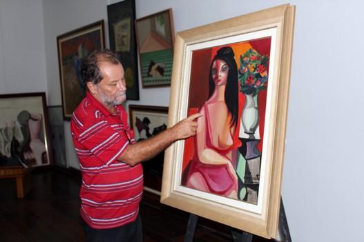 A Cuca Orlando Ramos Filho - ao fundo, obra A Mulata, Di Cavalcanti, acervo MRA